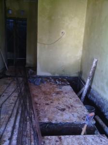 pondasi dalam - nyuntik bagian kiri rumah